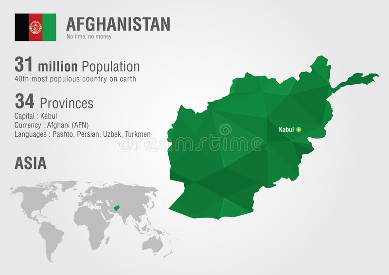 World Map Of Kabul Afghanistan. Download Afghanistan World Map With A Pixel Diamond Texture  Stock Photo Image of afghanistan