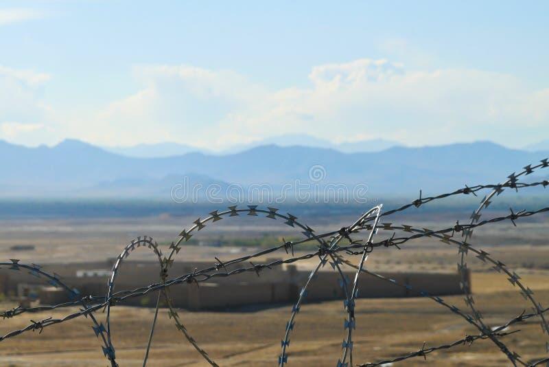 afghanistan za kraju ogrodzeniem zdjęcia stock