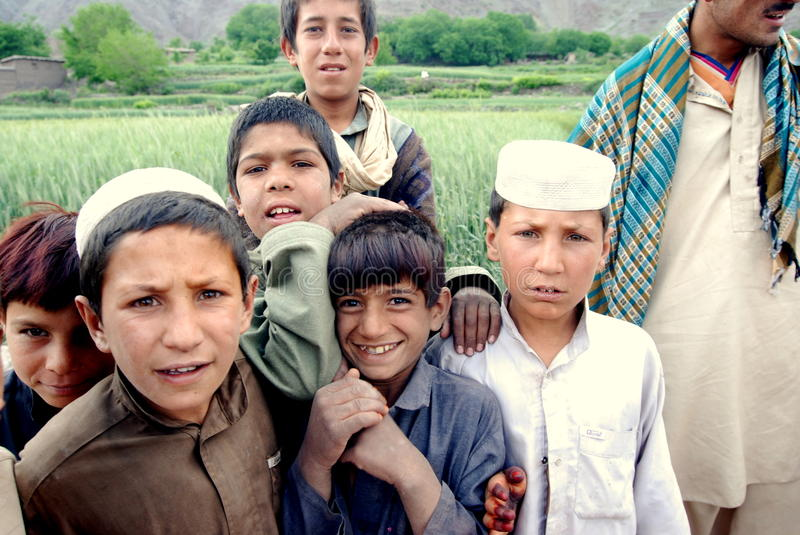 Afghans in Azra district, Loga Province royalty free stock photography