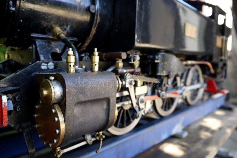 Afición: cierre modelo del motor del tren del vapor imágenes de archivo libres de regalías