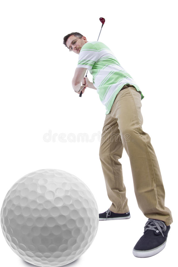 Download Afición del golf foto de archivo. Imagen de envejecido - 44852500