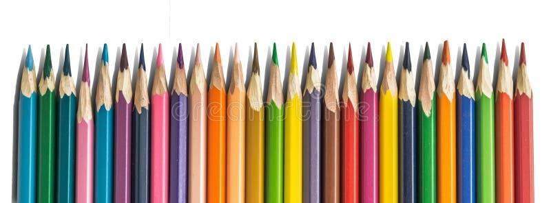 Afiladura manual coloreada de los lápices libre illustration