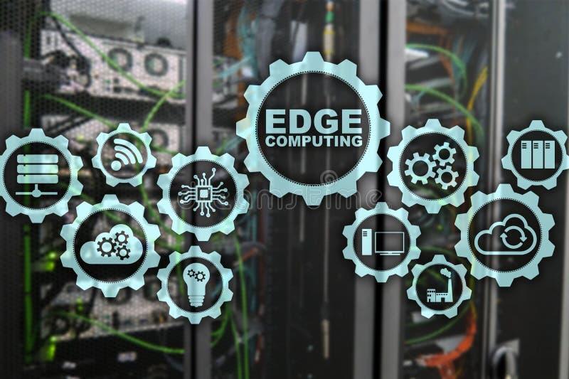 AFILE LA COMPUTACIÓN en fondo moderno del sitio del servidor Tecnología de la información y concepto del negocio para intensivo d fotos de archivo