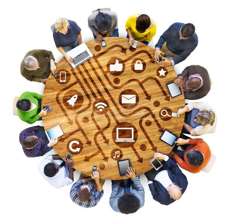 Afiliação étnica étnica Team Teamwork Unity Concept da diversidade diversa fotografia de stock