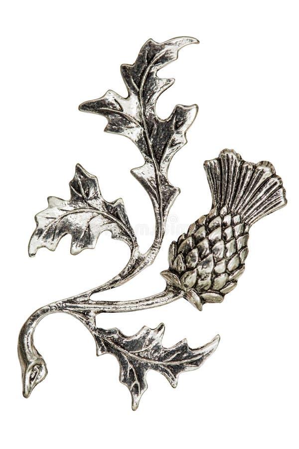 Afiligranado bajo la forma de flor del cardo, elemento decorativo para fotos de archivo