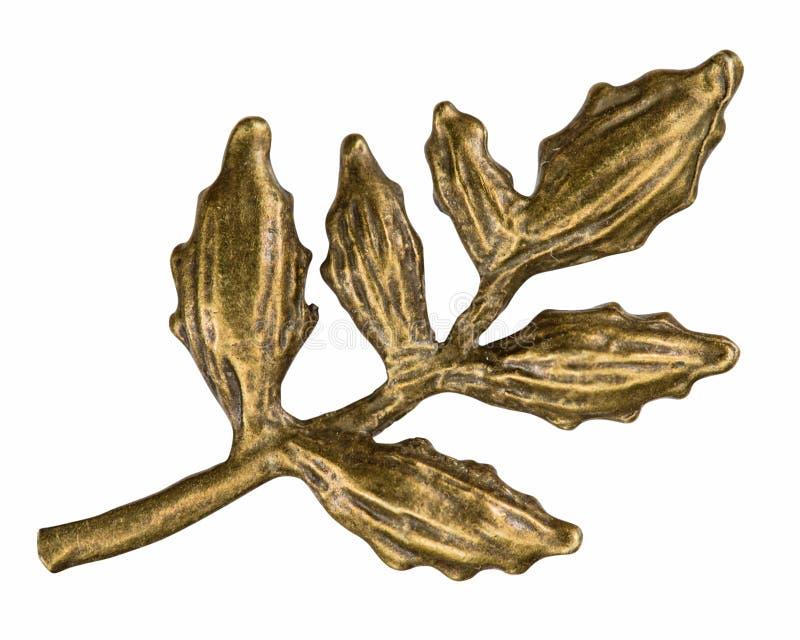 Afiligranado bajo la forma de rama de la planta, elemento decorativo f fotos de archivo