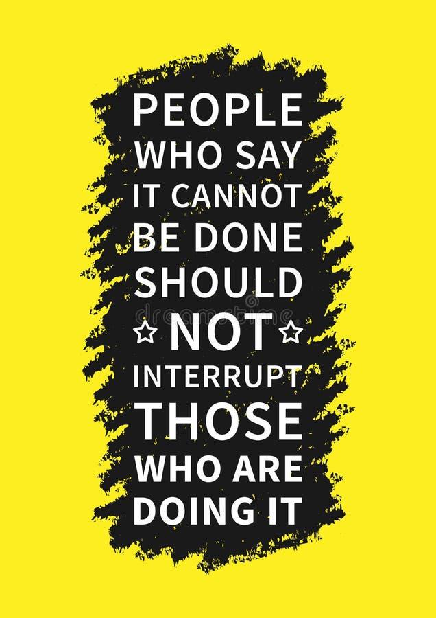 Afirmação inspirada positiva para o cartaz ilustração stock