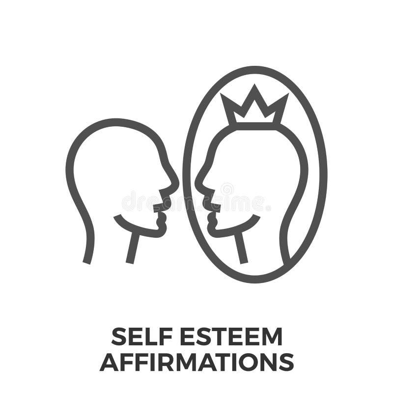 Afirmações do amor-próprio ilustração royalty free