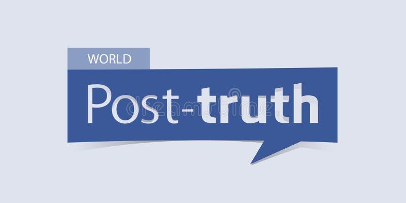Afixe a bandeira da verdade isolada na luz - fundo azul Molde do projeto da bandeira ilustração royalty free