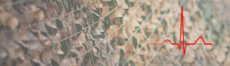 Afixe o conceito traumático da desordem do esforço, ritmo do coração fotografia de stock