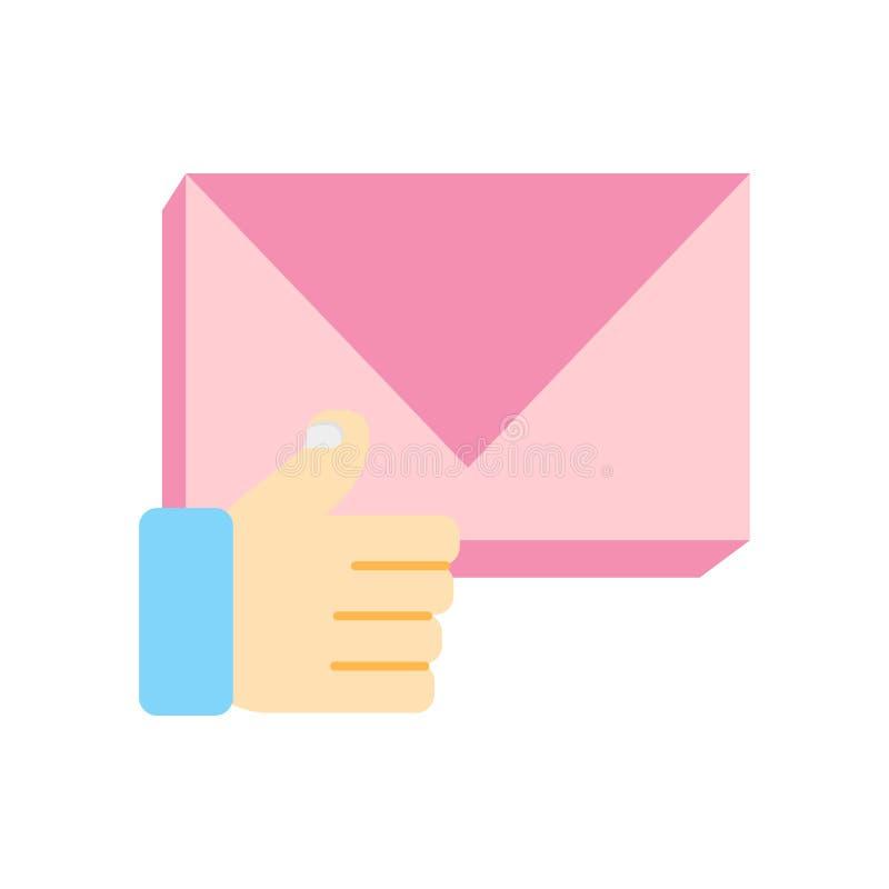 Afixe o vetor do ícone isolado no fundo branco, sinal do cargo, procura ilustração stock