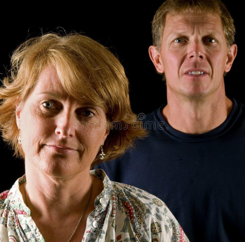 Afkeurende ouders stock foto's