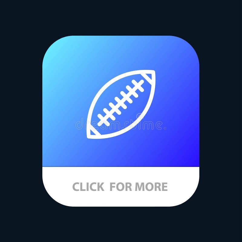 Afl, Australia, fútbol, rugbi, bola de rugbi, deporte, Sydney Mobile App Button Android y línea versión del IOS stock de ilustración
