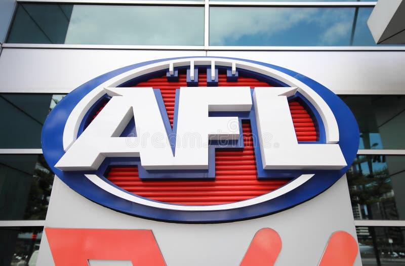 AFL Australian football league Australia. AFL Australian football league office in Melbourne Australia royalty free stock images