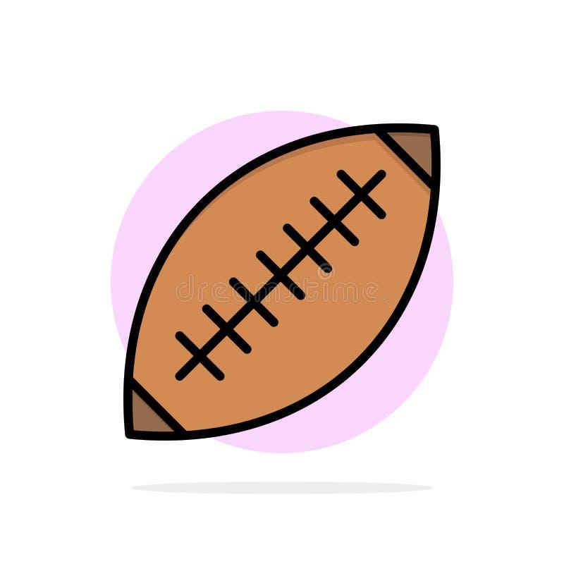 Afl, Australie, le football, rugby, boule de rugby, sport, icône de couleur de Sydney Abstract Circle Background Flat illustration libre de droits