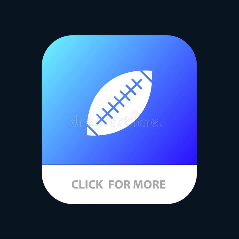 Afl, Australie, le football, rugby, boule de rugby, sport, Sydney Mobile App Button Android et version de Glyph d'IOS illustration libre de droits