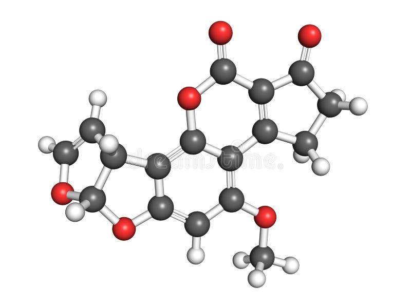 Aflatoxin B1 ilustracji