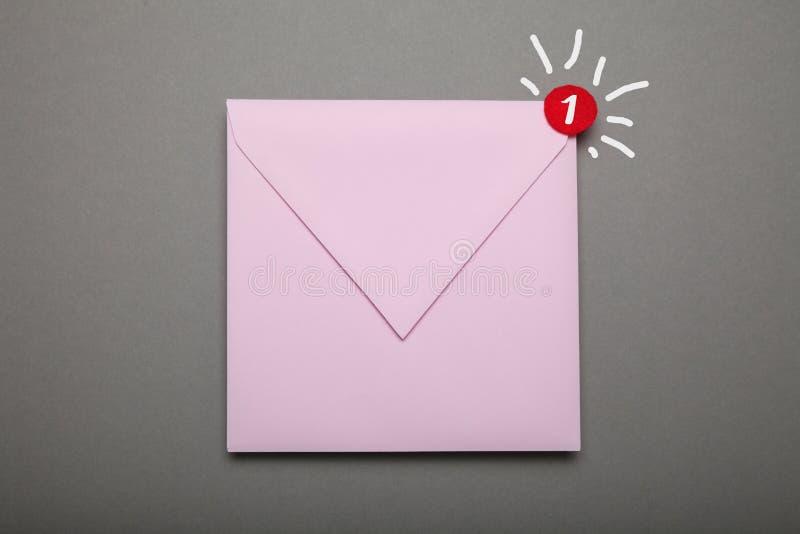Afleveradres lege envelop, vertrouwelijke gehechtheid royalty-vrije stock foto's