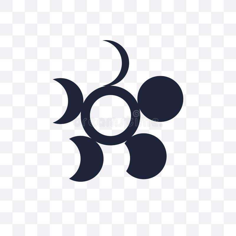Afnemend maan transparant pictogram Het afnemende ontwerp van het maansymbool van Wea royalty-vrije illustratie