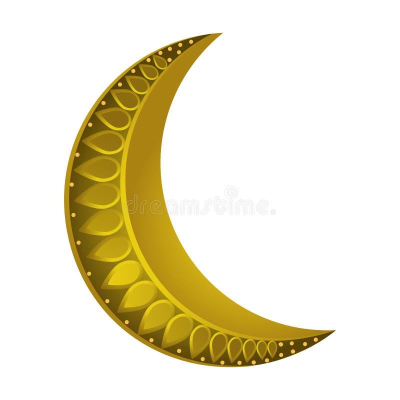 Afnemend maanpictogram stock illustratie