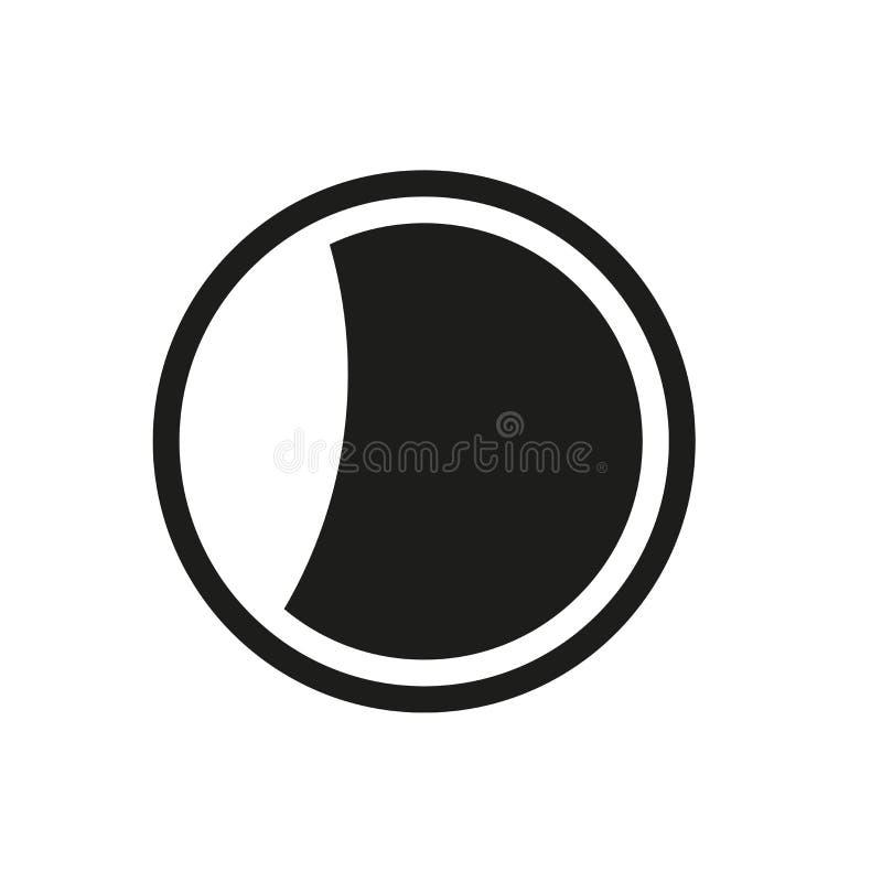 Afnemend maanpictogram Het in Afnemende concept van het maanembleem op witte backg stock illustratie
