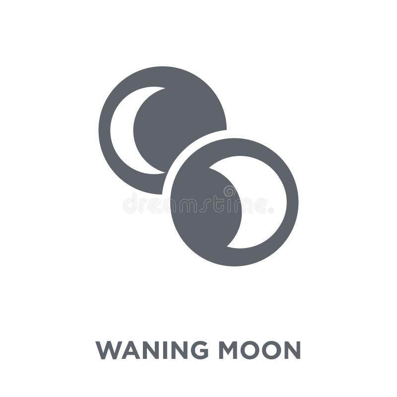 Afnemend maanpictogram van Weerinzameling royalty-vrije illustratie