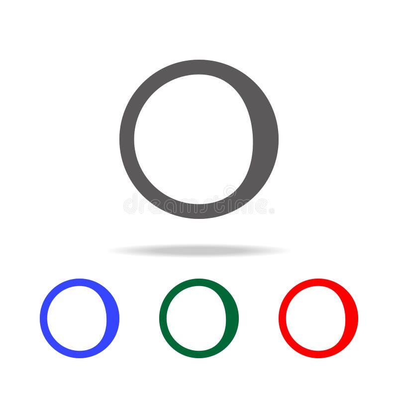 afnemend toenemend maanpictogram Elementen van weer in multi gekleurde pictogrammen Grafisch het ontwerppictogram van de premiekw royalty-vrije illustratie