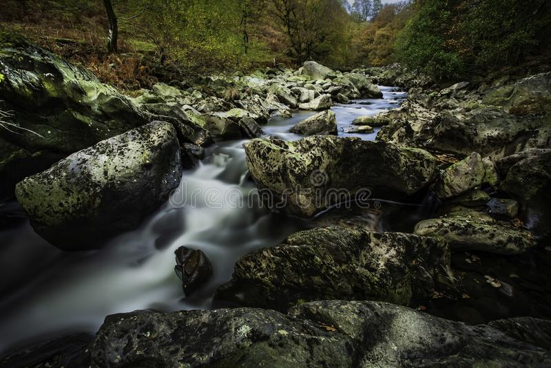 Afon Claerwen fotografia stock libera da diritti