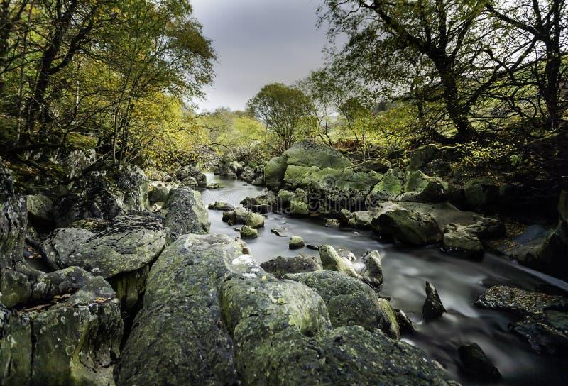 Afon Claerwen royaltyfri foto