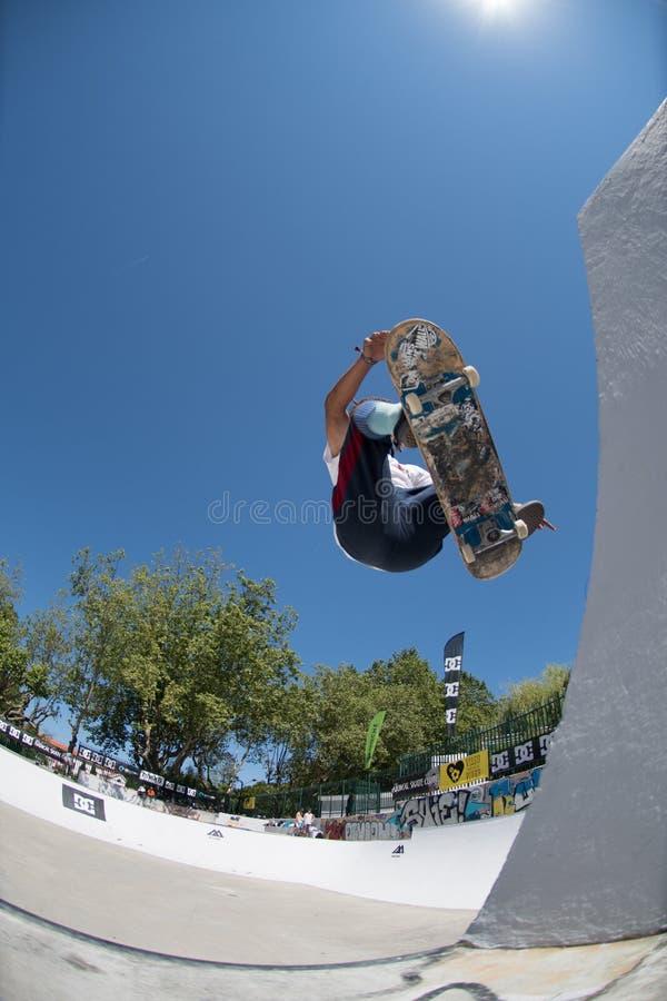 Afonso Nery во время возможности конька DC стоковое изображение rf
