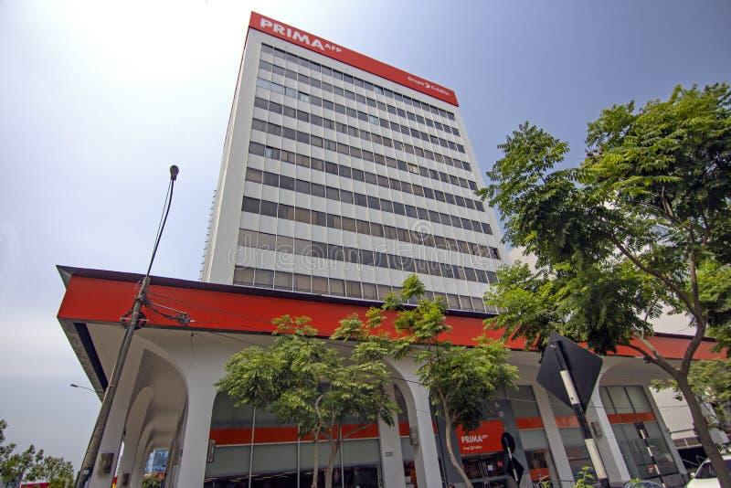 AFP Prima jest Peruwiańskim sektoru prywatnego funduszu emerytalnego kierownikiem obraz royalty free