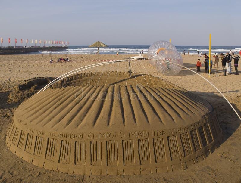 afr νότιο στάδιο άμμου αντιγρά& στοκ εικόνα