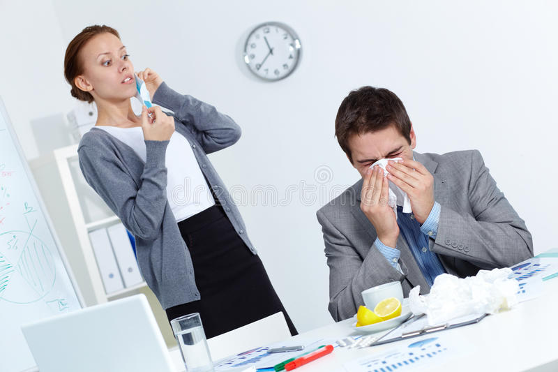 Download Afraid of catching virus stock image. Image of fever - 24739757