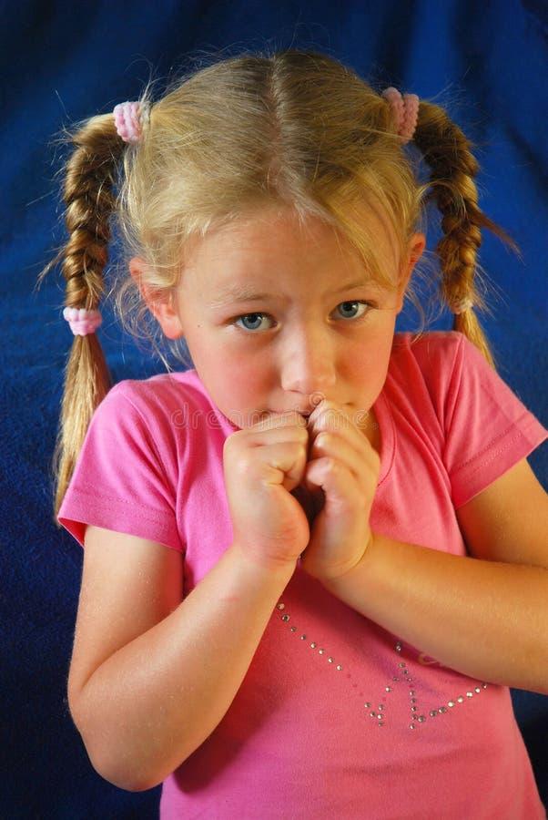 Afraid child royalty free stock images