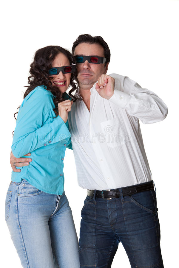 Download Afraid couple stock image. Image of watch, film, cinema - 17290099