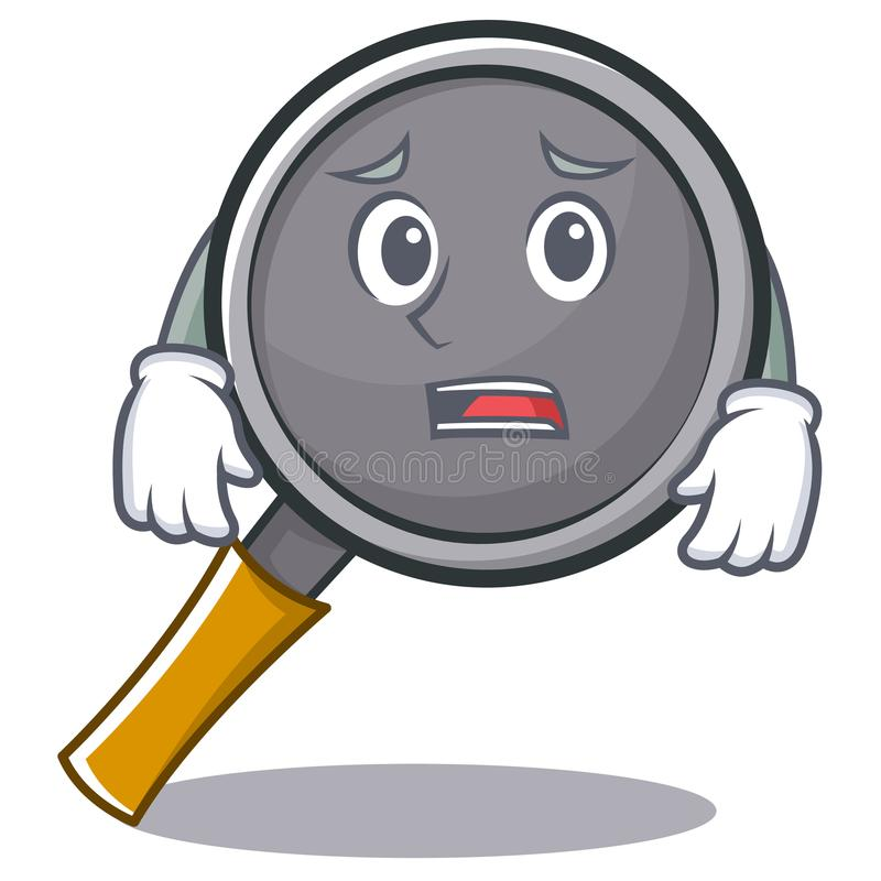 Afraid frying pan cartoon character. Vector illustration vector illustration