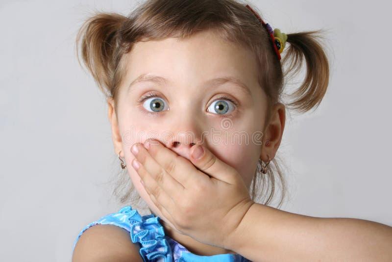 Afraid girl stock image