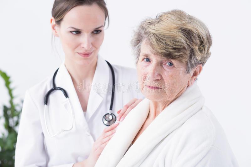 Afraid of her medical condition royalty free stock photo