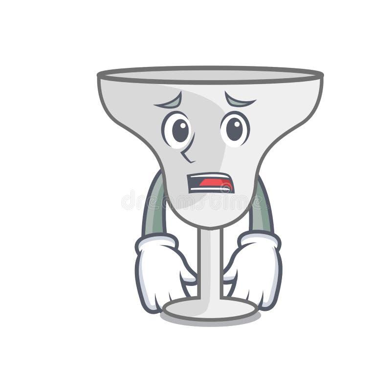Afraid margarita glass mascot cartoon. Vector illustration stock illustration