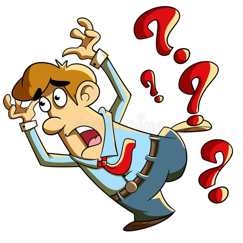 Afraid by Question stock images
