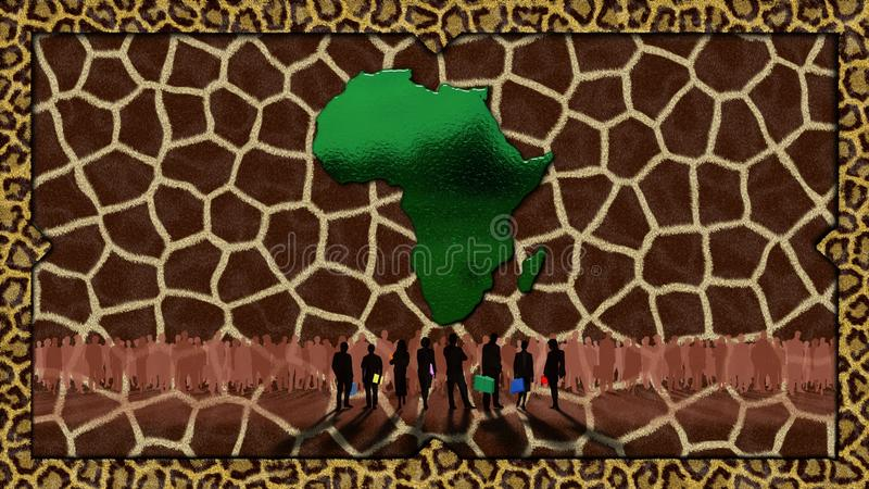 africa royalty ilustracja