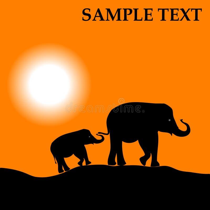 Download Africa stock vector. Illustration of mother, dusk, animal - 7461112