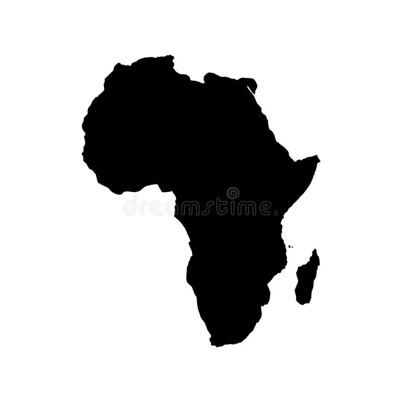 Africa Blind Map vector illustration