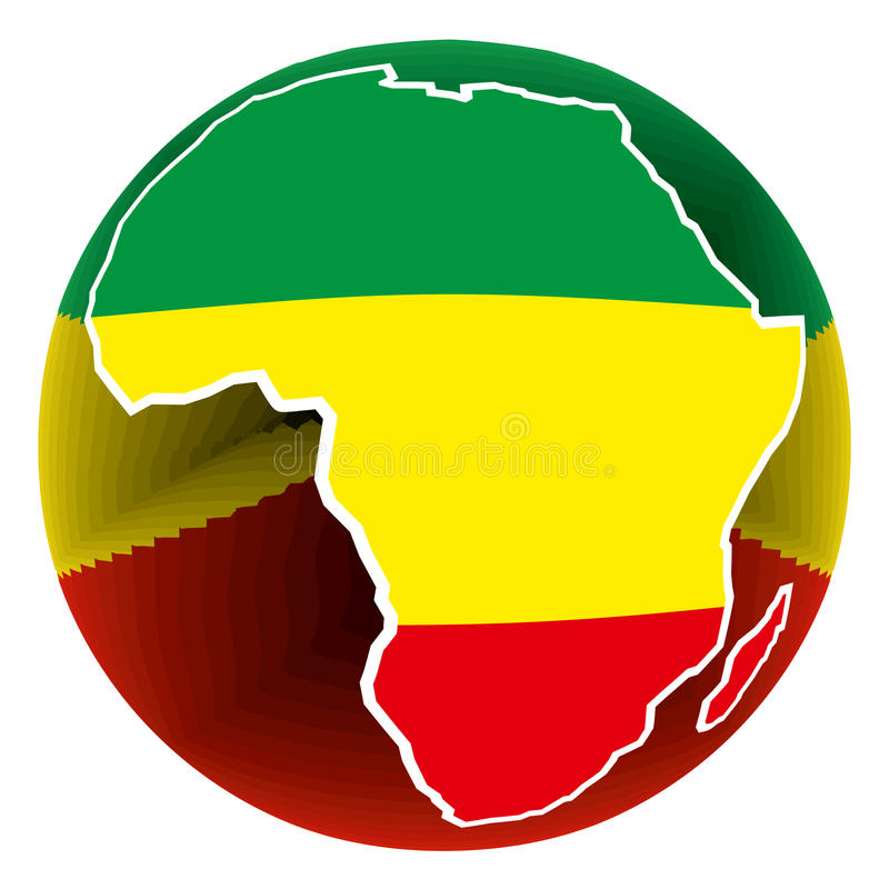 Africa button royalty free illustration