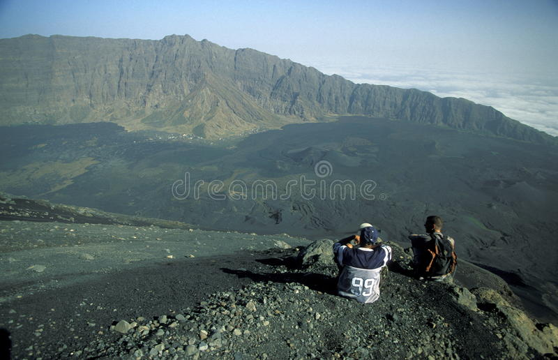 AFRICA CAPE VERDE FOGO royalty free stock images