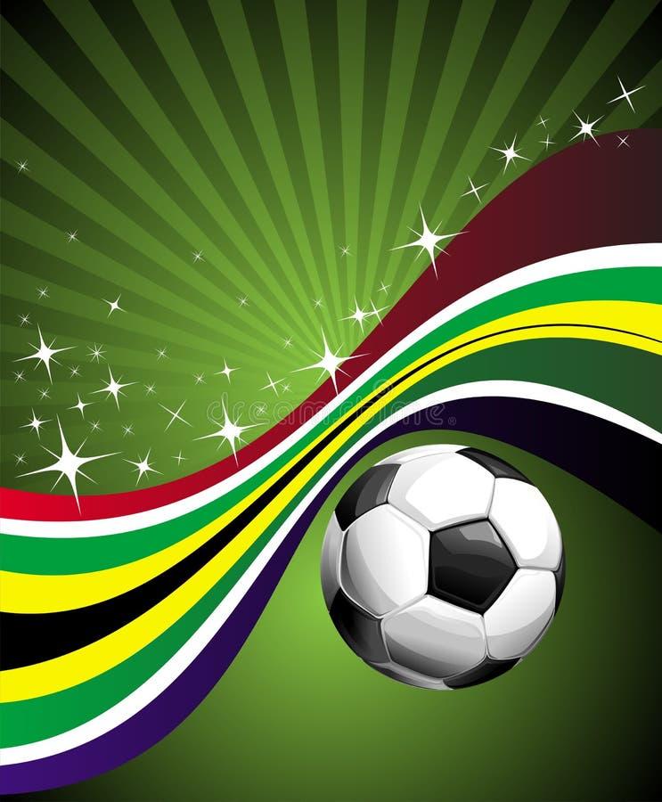 Africa Chorągwianego Futbolu Znaka Południe Obraz Royalty Free