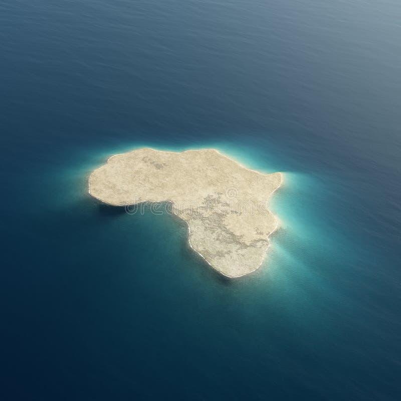 Africa conceptual island design stock illustration