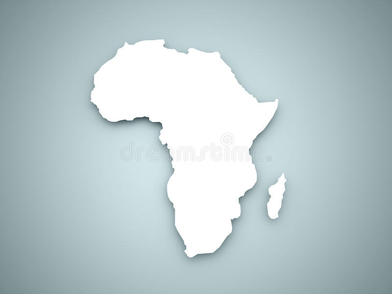 Africa continent. On blue color stock illustration