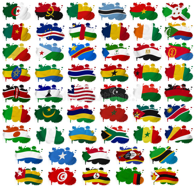 Download Africa Countries Flag Blots Stock Illustration - Image: 28813442