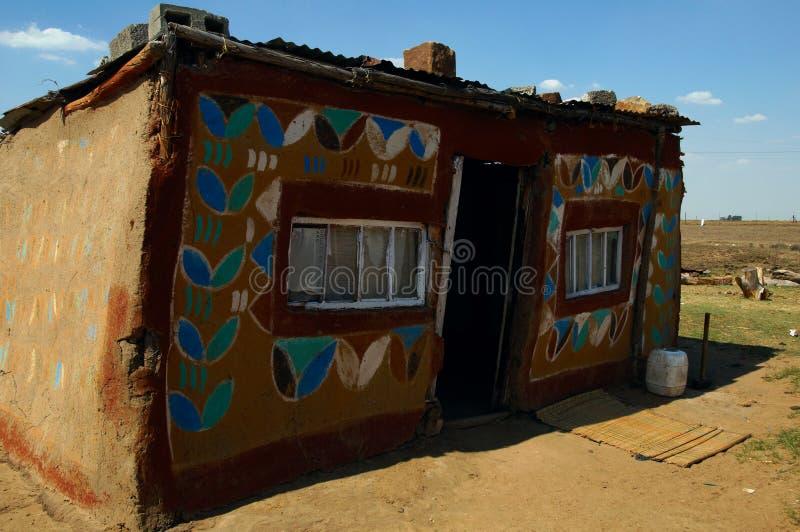 africa dom malujący wiejscy południe fotografia royalty free